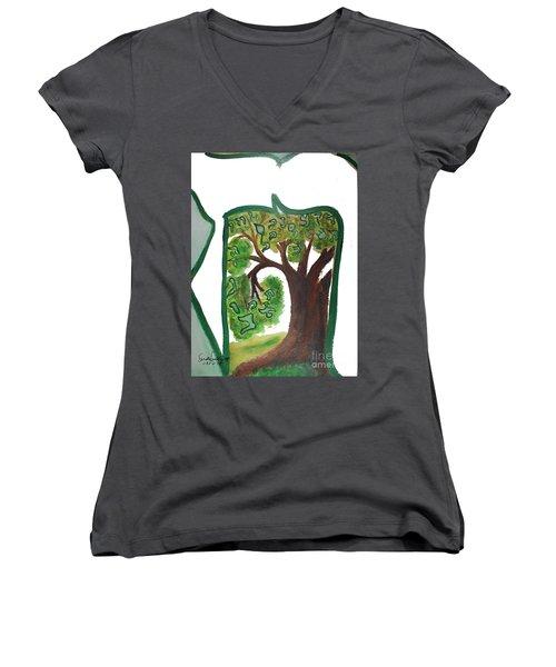 Chet, Tree Of Life  Ab21 Women's V-Neck