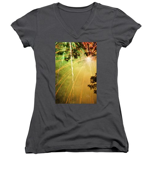 Yellow Fireworks Women's V-Neck
