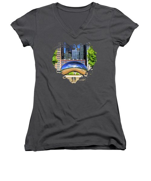 Chicago Cloud Gate Park Women's V-Neck