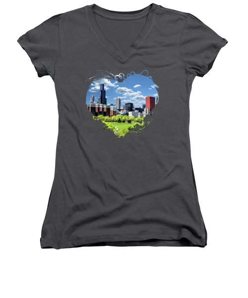 Chicago Historic Michigan Avenue Women's V-Neck