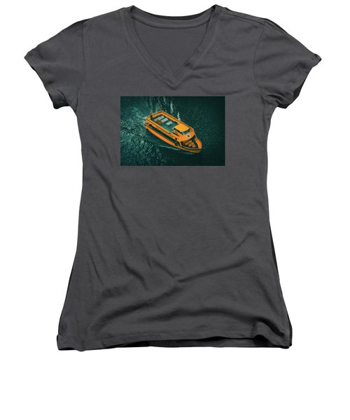 Chicago Taxi Women's V-Neck