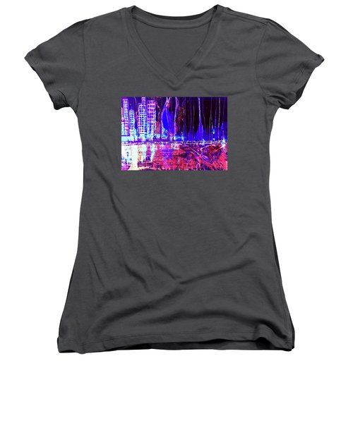 City By The Sea Right Women's V-Neck