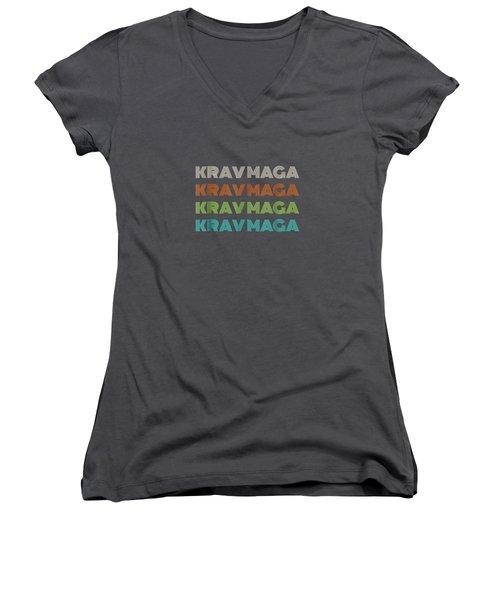 Classic 1970's Krav Maga T-shirt Women's V-Neck