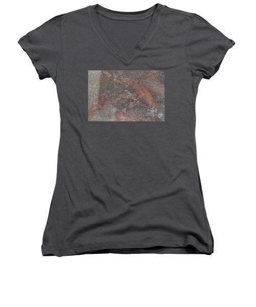 Women's V-Neck featuring the digital art Classic Fragment by Attila Meszlenyi