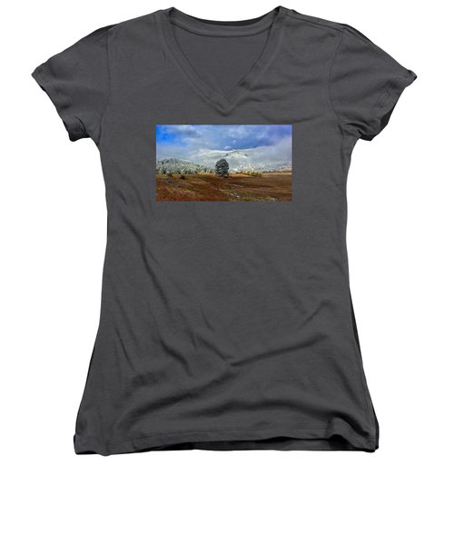 Women's V-Neck featuring the photograph Clearing Storm by Dan Miller