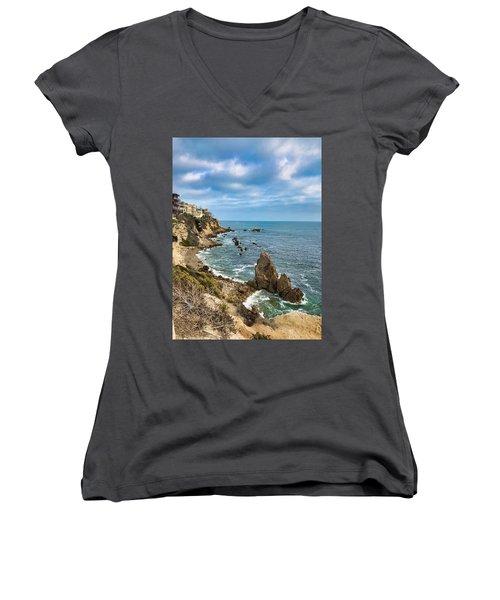 Cliffs Of Corona Del  Mar Women's V-Neck