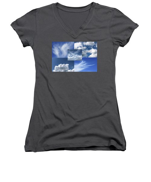 Cloud Collage Two Women's V-Neck