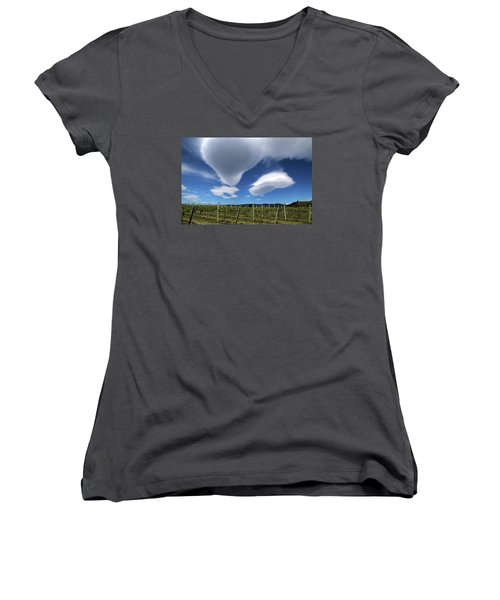 Cloudforms And Vines Women's V-Neck