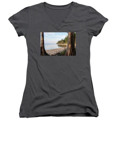 Coastal River Scene Women's V-Neck
