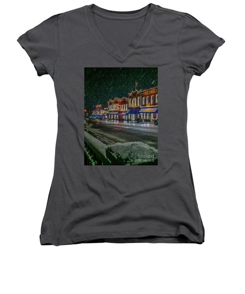 Cold Night In Cripple Creek Women's V-Neck