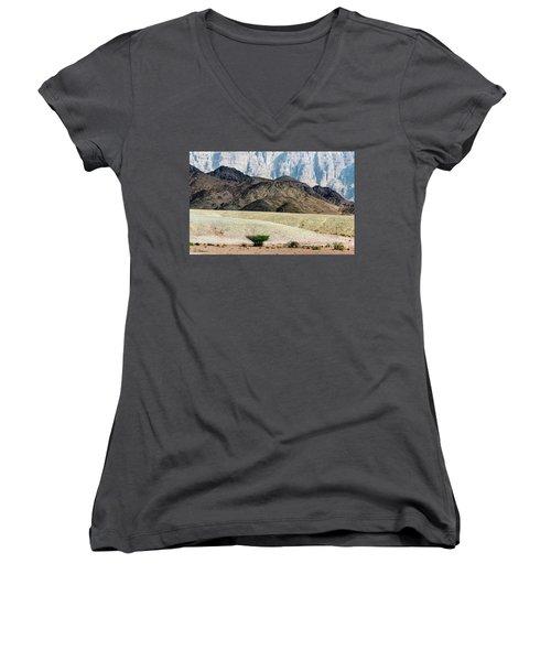 Color Layers In The Desert Women's V-Neck