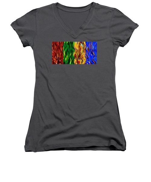 Colored Fire Women's V-Neck