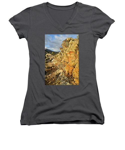 Colorful Entrance To Colorado National Monument Women's V-Neck