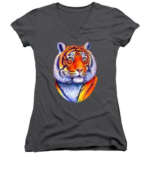Colorful Tiger Women's V-Neck