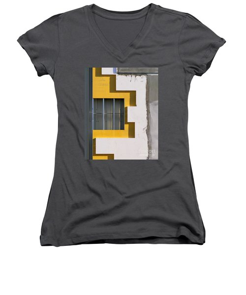 Construction Abstract Women's V-Neck