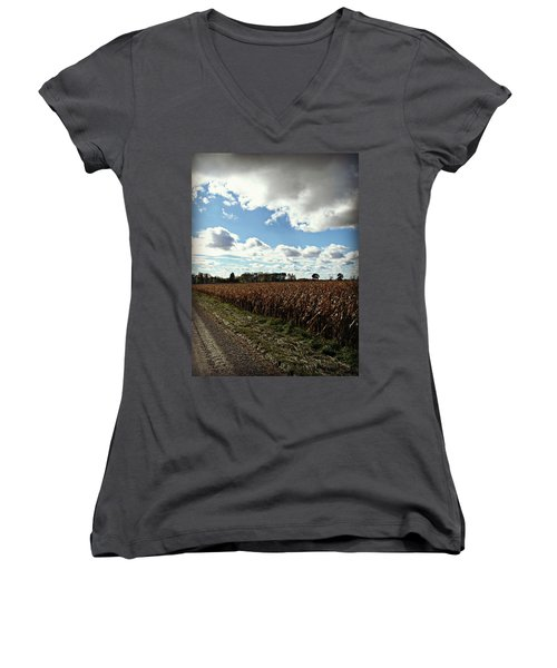 Country Autumn Curves 2 Women's V-Neck
