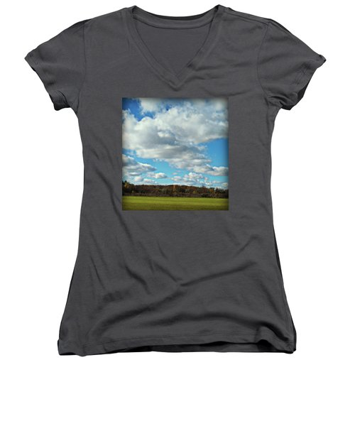 Country Autumn Curves 7 Women's V-Neck