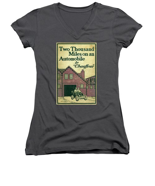 Cover Design For Two Thousand Miles On An Automobile Women's V-Neck