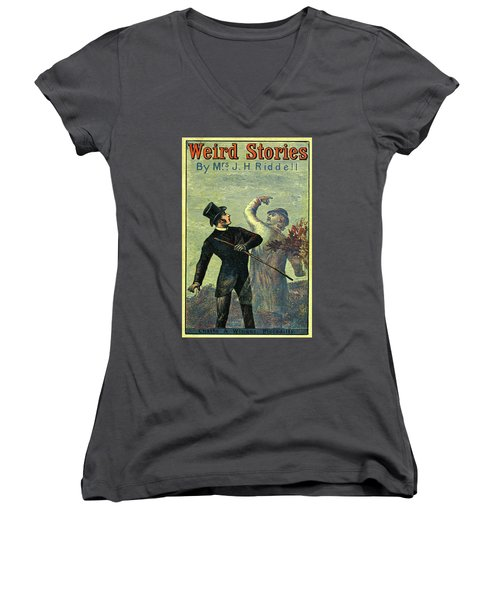 Victorian Yellowback Cover For Weird Stories Women's V-Neck