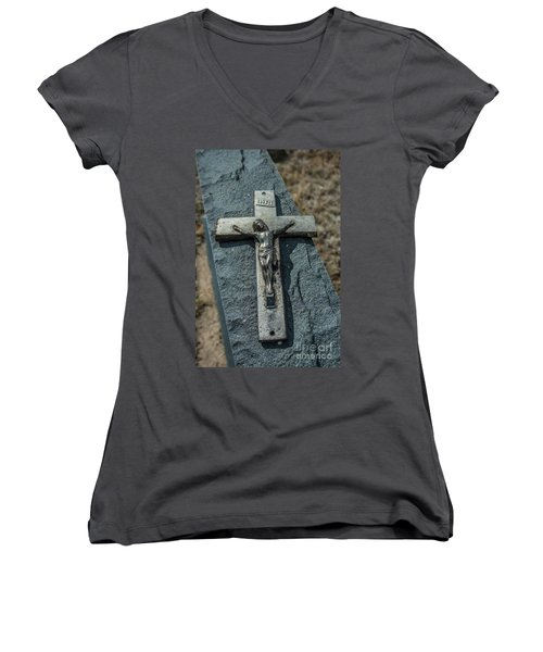 Crucifix Women's V-Neck