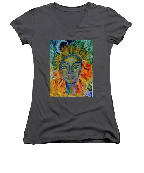 Daughter Of The Sun And Moon Women's V-Neck