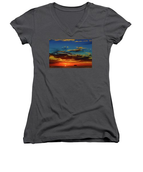 December 17 Sunset Women's V-Neck