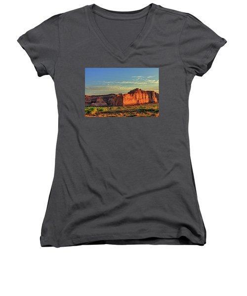 Desert Sunrise In Color Women's V-Neck