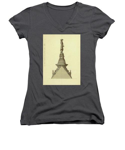 Design For City Hall Tower Women's V-Neck