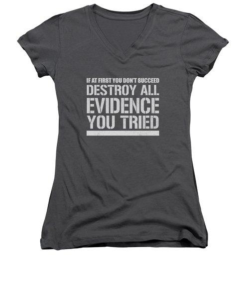 Destroy Evidence Women's V-Neck