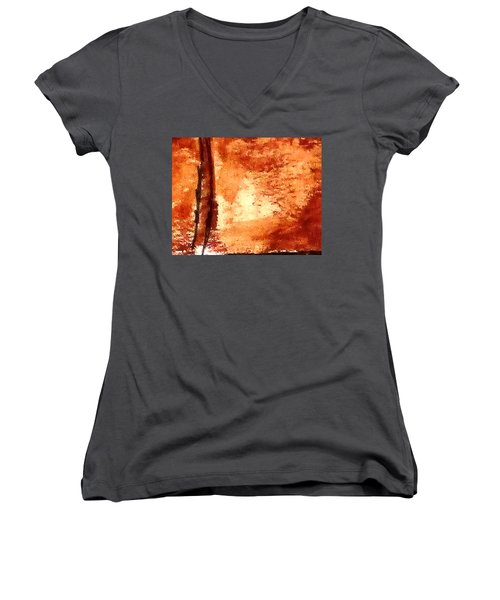 Digital Abstract No9. Women's V-Neck