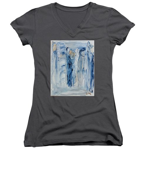 Divine Angels Women's V-Neck