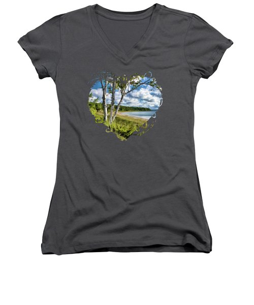 Door County Europe Bay Birch Women's V-Neck