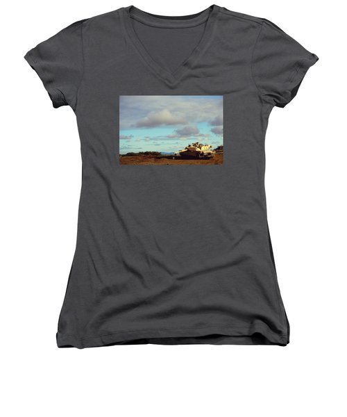 Downed But Not Out Women's V-Neck