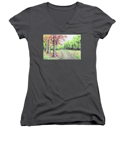 Early Autumn Women's V-Neck (Athletic Fit)
