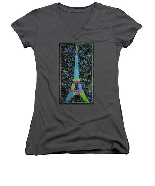 Eiffel Tower Women's V-Neck