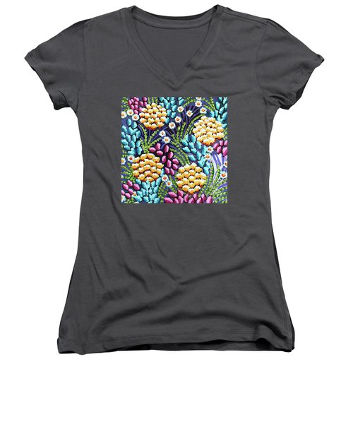 Floral Whimsy 2 Women's V-Neck