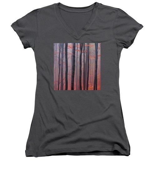 Forest Barcode Women's V-Neck