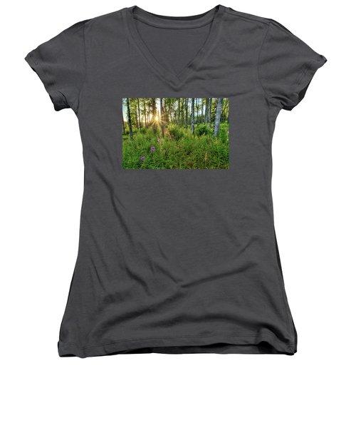 Forest Growth Alaska Women's V-Neck