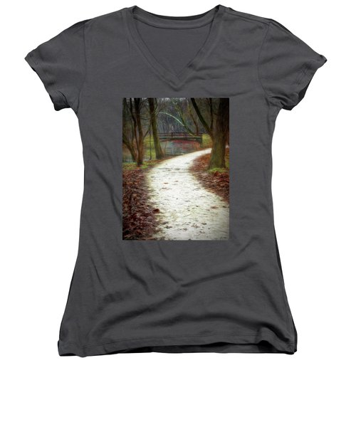 Forest Path Women's V-Neck