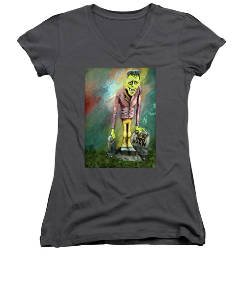 Frankie At The Boo Barn Women's V-Neck (Athletic Fit)