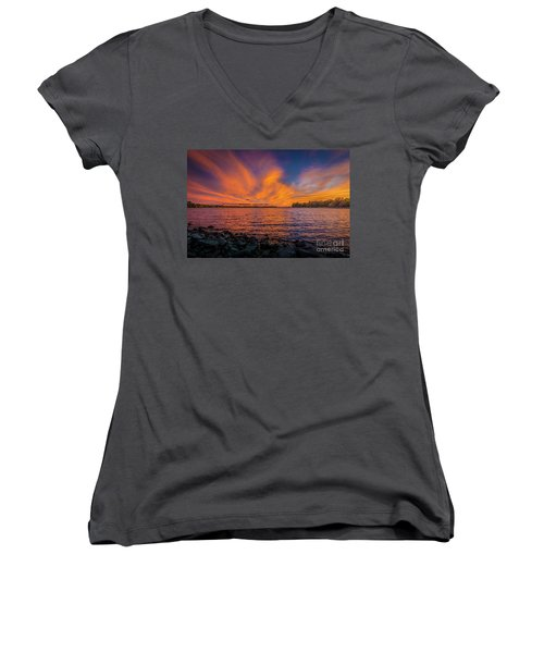 Frontenac Ferry Sunset Women's V-Neck
