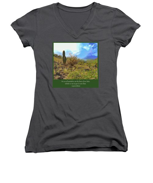 Women's V-Neck (Athletic Fit) featuring the photograph Fruits Of Our Labor by Judy Kennedy