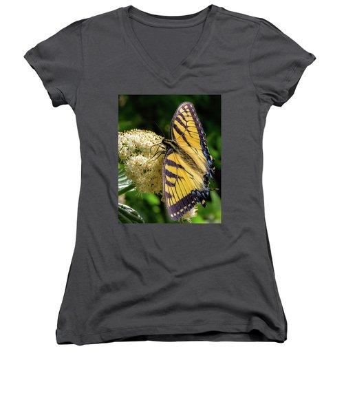 Fuzzy Butterfly Women's V-Neck