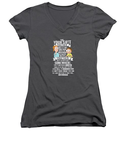 Get It Together - Rick And Morty Women's V-Neck