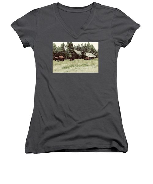 Ghosts Of The Plains Women's V-Neck