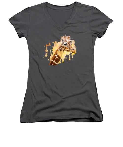 Giraffe T-shirt, Giraffe Mug, Giraffe Gift, Women's V-Neck