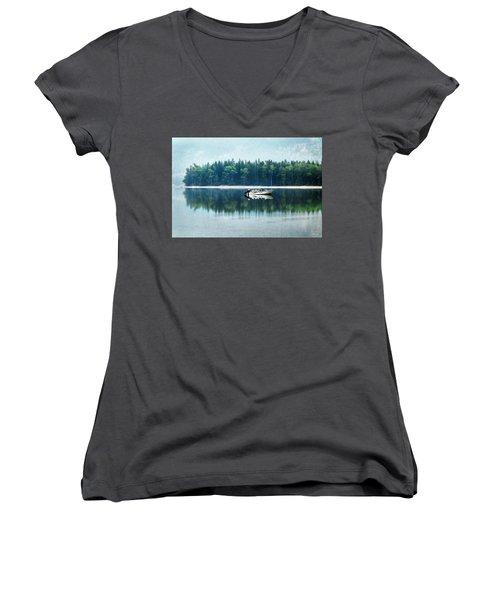 Glacier National Park Lake Reflections Women's V-Neck