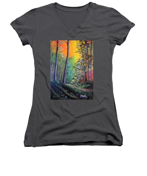 Glowing Forrest Women's V-Neck