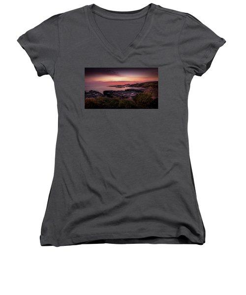 Godrevy Sunset - Cornwall Women's V-Neck