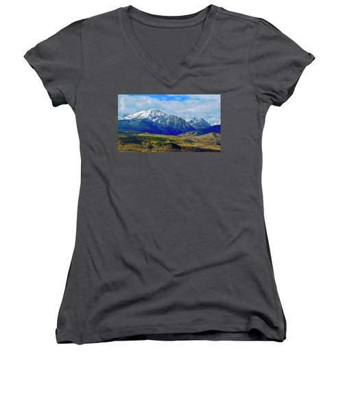 Women's V-Neck featuring the photograph Gore Mountain Range by Dan Miller